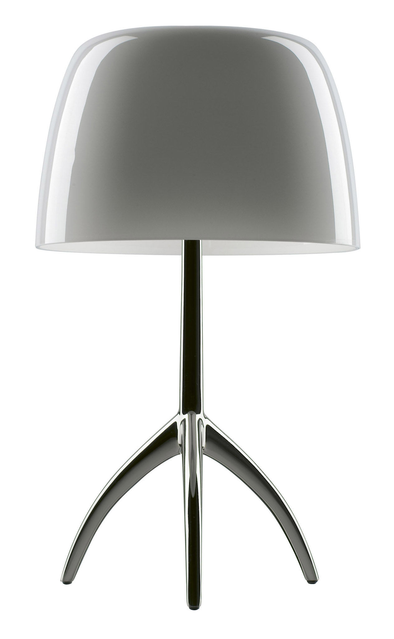 Lumi re grande table lamp grey chromed black base by for Design table lamp giffy 17 7