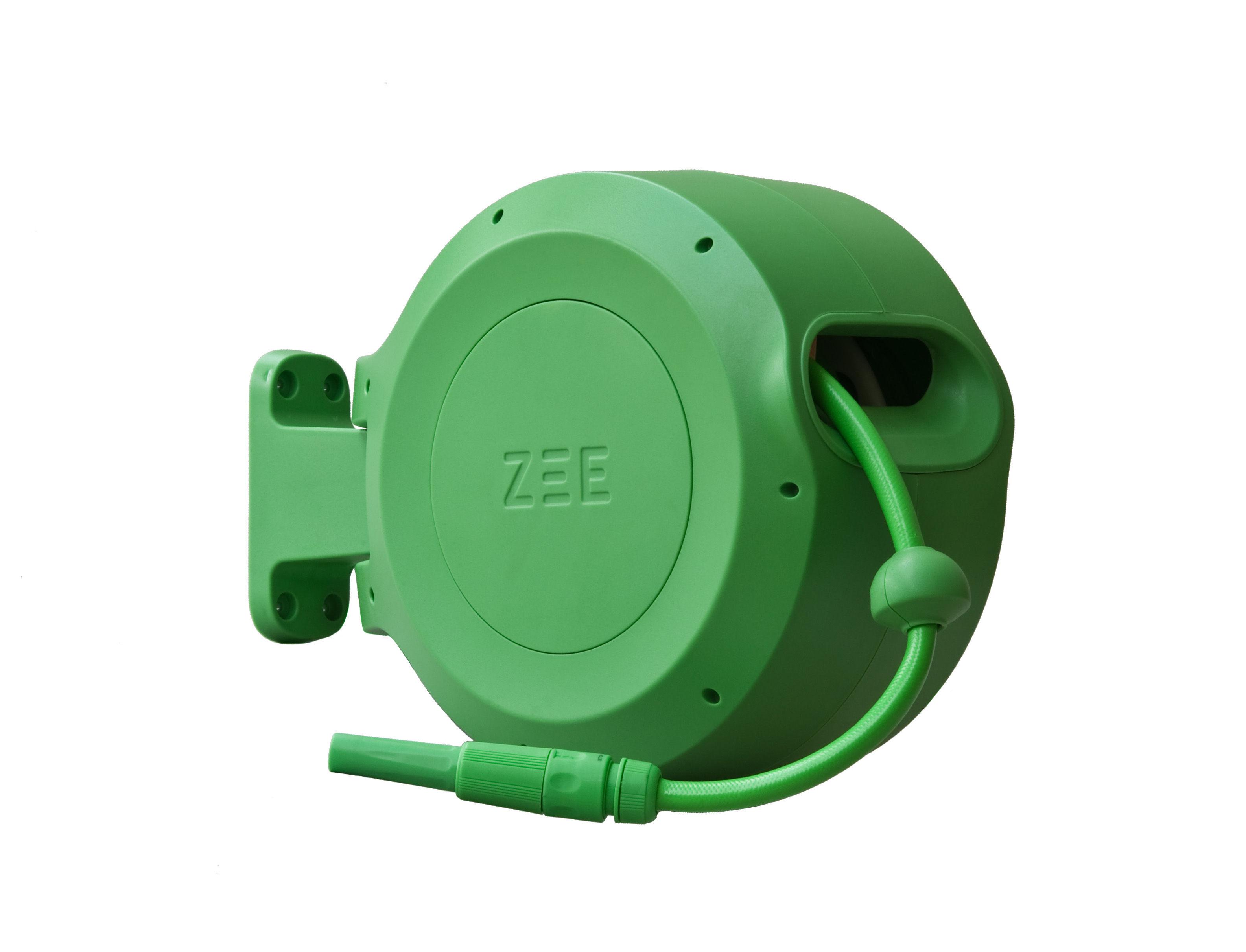 tuyau d 39 arrosage mirtoon 10m enrouleur automatique pistolet offert vert zee. Black Bedroom Furniture Sets. Home Design Ideas