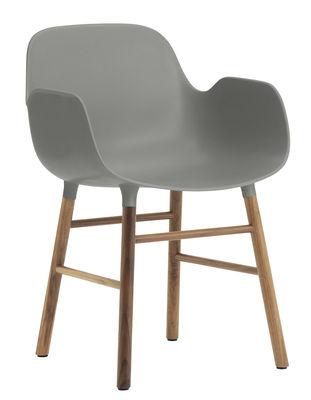 Form Sessel / Stuhlbeine aus Nussbaum - Normann Copenhagen - Grau,Nussbaum