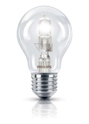 Luminaire - Ampoules et accessoires - Ampoule Eco-halogène E27 EcoClassic Standard / 28W (35W)- 370 lumen - Philips - 28W (35W) - Métal, Verre