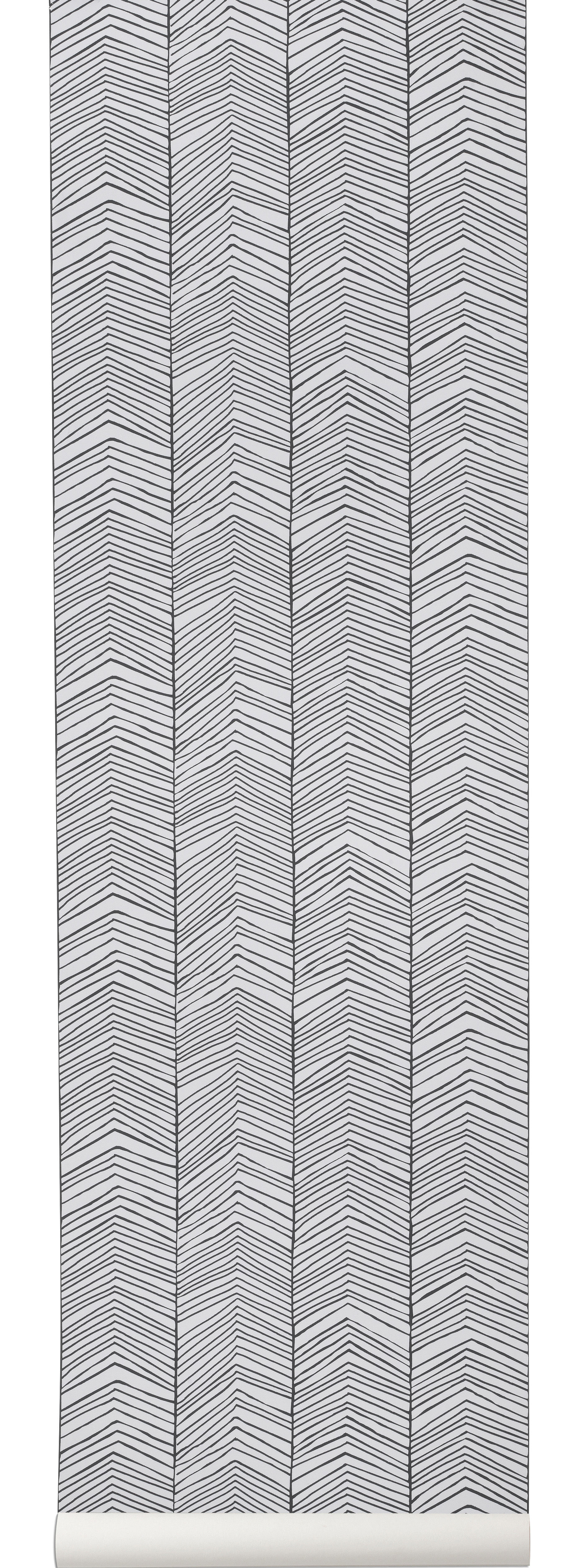 papier peint herringbone 1 rouleau larg 53 cm noir blanc ferm living. Black Bedroom Furniture Sets. Home Design Ideas