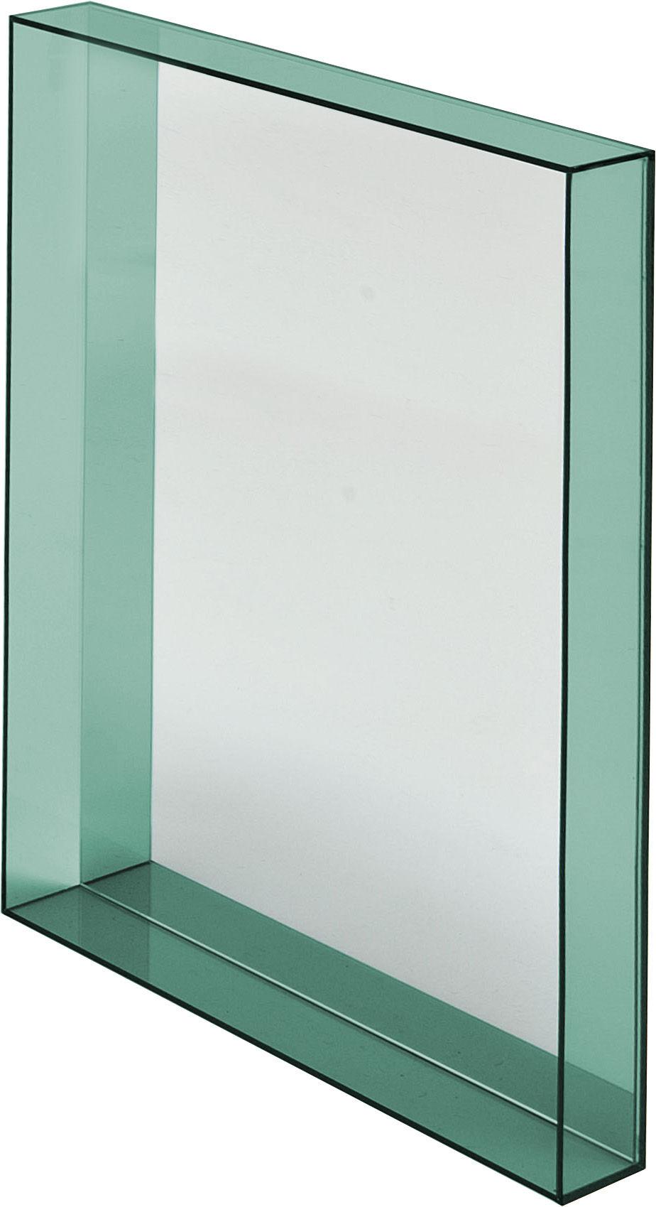 Miroir mural only me l 50 x h 70 cm vert meraude transparent kartell for Miroir 50 x 90