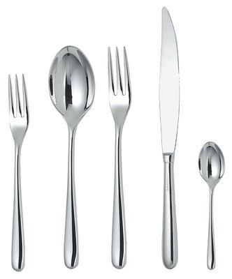 Image of Set di posate Caccia - per 1 persona di Alessi - Acciaio inossidabile brillante - Metallo