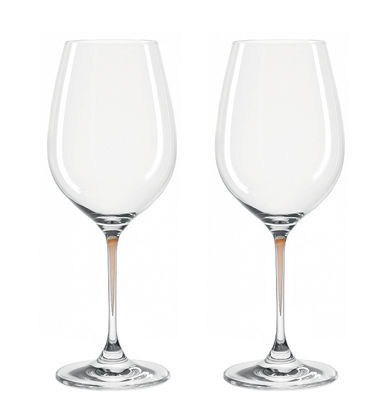 Verres à vin La Perla / Set de 2 - Leonardo marron en verre