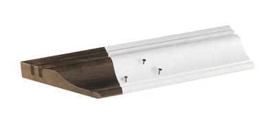 organiseur de bureau fragment de bureau moulure haussmannienne l 40 cm bois fonc blanc. Black Bedroom Furniture Sets. Home Design Ideas