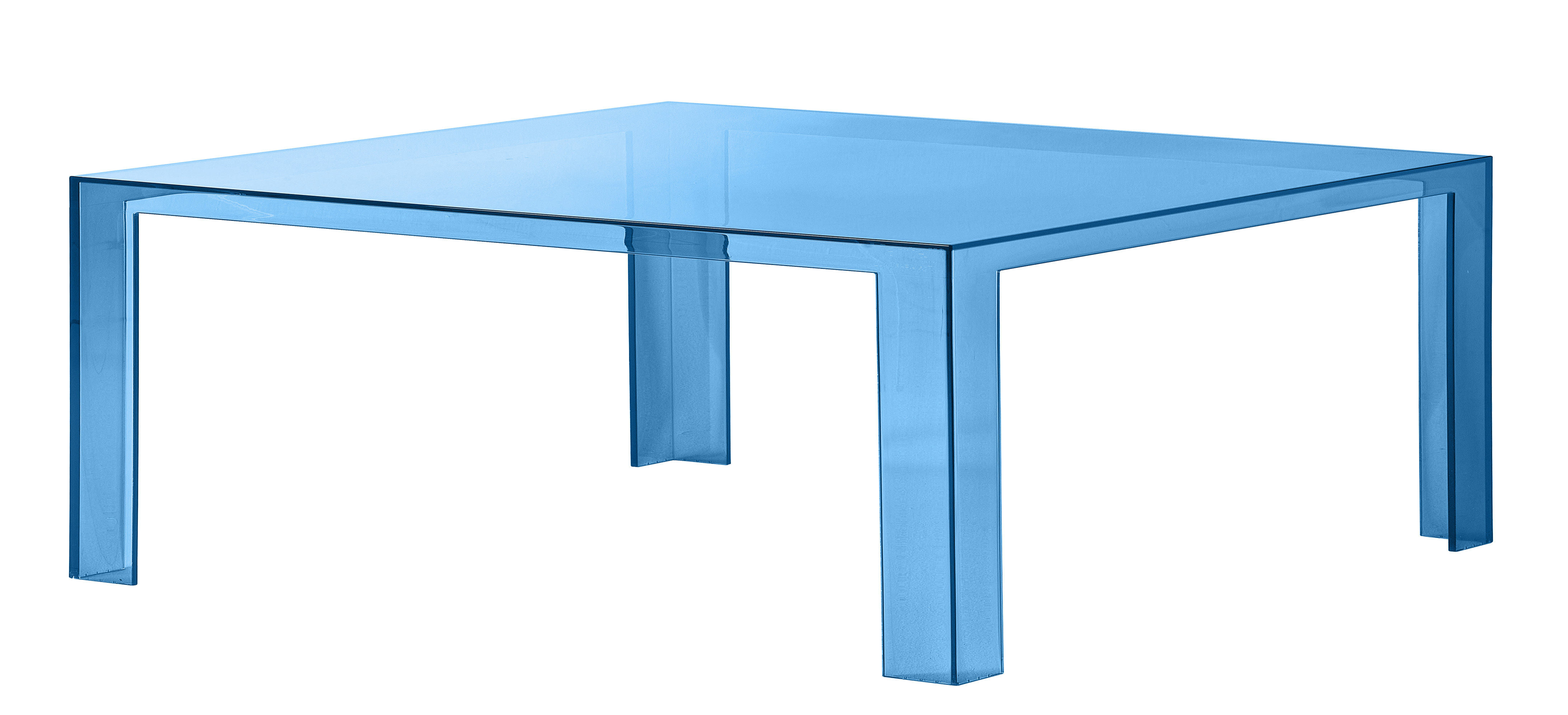 Table basse invisible low 100 x 100 x h 31 cm p trole for Table basse design 100 x 100