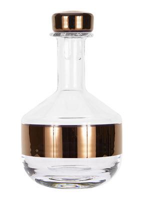 Arts de la table - Carafes et décanteurs - Décanteur Tank / Carafe à whisky - Tom Dixon - Transparent / Cuivre - Verre soufflé bouche