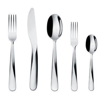 Image of Set di posate Giro / 5 pezzi - 1 persona - Alessi - Acciaio - Metallo