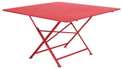 Table pliante Cargo 128 x 128 cm Fermob coquelicot en métal