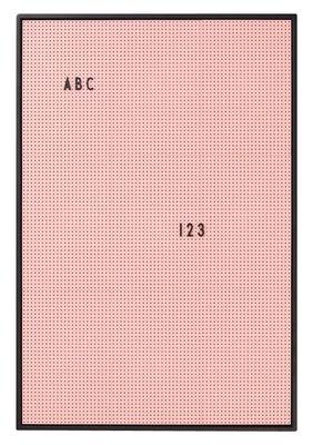 Tableau memo A2 / L 42 x H 59 cm - Design Letters rose en matière plastique
