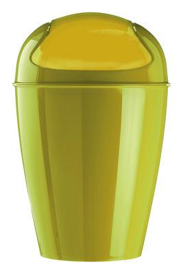 Déco - Salle de bains - Poubelle Del M / H 44 cm - 12 Litres - Koziol - Vert moutarde - Polypropylène
