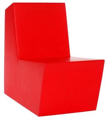 Poltrona bassa Primary Solo di Quinze & Milan - Rosso - Materiale plastico