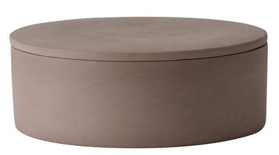 Boîte Cylindrical / Argile - Ø 12 cm - Menu vieux rose en céramique