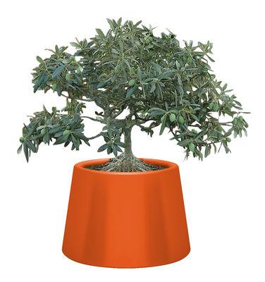 Foto Vaso per fiori Sardana - Ø 87 cm x A 61 cm di Qui est Paul ? - Arancione - Materiale plastico