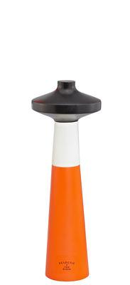 Foto Macinasale Tower - / H 24 cm di Tom Dixon - Bianco,Nero,Arancione fluorescente - Legno