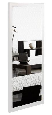 Foto Specchio Little Frame - 60 x 120 cm di Zeus - Bianco semi-opaco - Metallo