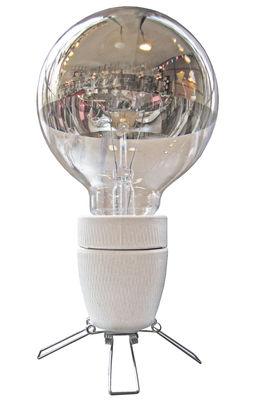 Luminaire - Lampes de table - Lampe de table Spoutnik / Petite - Tsé-Tsé - Blanc / Acier - Acier, Porcelaine
