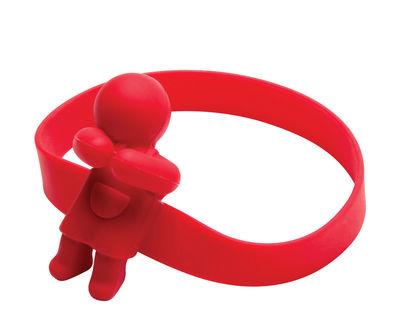 Porte cuillère June Spoon Pa Design rouge en matière plastique