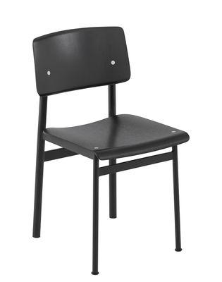 Chaise Loft / Bois & métal - Muuto noir en bois