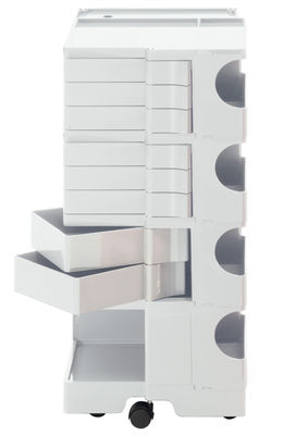 Furniture - Shelves & Storage Furniture - Boby Trolley - H 94 cm - 8 drawers by B-LINE - White - ABS