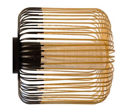 Bamboo light M Wandleuchte / Deckenleuchte - Ø 45 cm x H 40 cm - Forestier - Schwarz,Bambus Natur