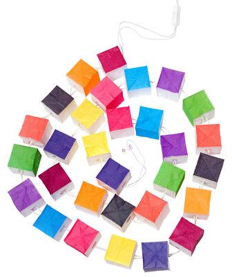 Guirlande lumineuse Cubiste 30 lampes Multicolore 30 lampes - Tsé-Tsé