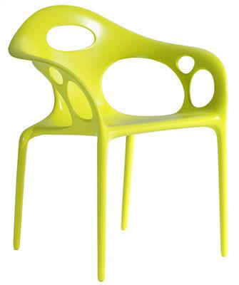 Fauteuil empilable Supernatural Plastique Moroso vert en matière plastique