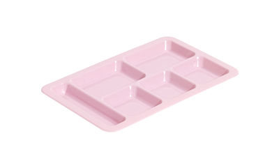 Arts de la table - Plats - Plateau Cantine / Compartimenté - Hay - Rose - Polycarbonate