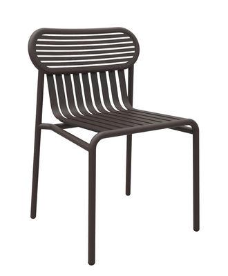 Chaise Week-end / Aluminium - Petite Friture brun en métal