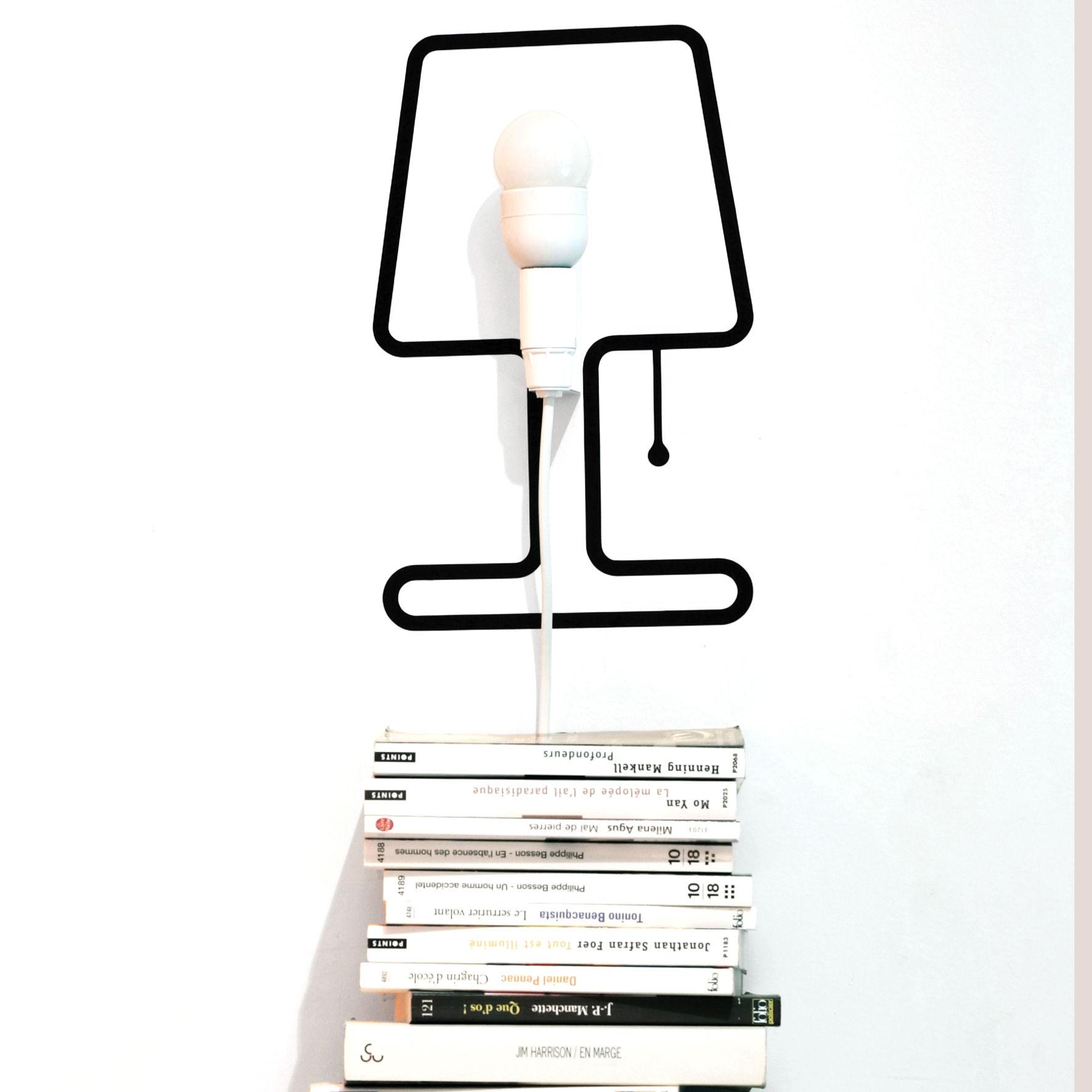 lampe tiny lampe set sticker kit lectrique noir kit. Black Bedroom Furniture Sets. Home Design Ideas