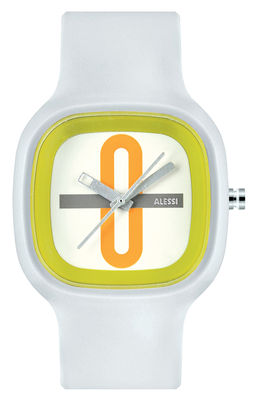 Accessories - Watches - Kaj Watch - Multicoloured version by Alessi Watches - White - Green - Orange - Polyurethane