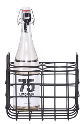 Arts de la table - Bar, vin, apéritif - Casier à bouteilles / 4 bouteilles - House Doctor - 4 bouteilles - Noir - Fer, Laque époxy
