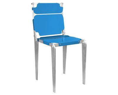 Sedie Blu Petrolio : Simple chair n° sedia blu petrolio blu chiaro by made in design