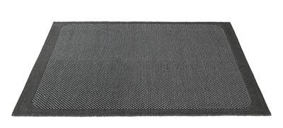 Tapis Pebble Tissé main 200 x 300 cm Muuto gris foncé en tissu