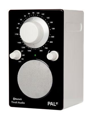 Radio Pal BT Enceinte portative Bluetooth Tivoli Audio blanc,noir brillant en matière plastique