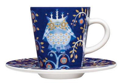 """Tischkultur - Tassen und Becher - Untertasse für Kaffeetasse """"Taika"""" - Iittala - Untertasse - blauer Hintergrund - Keramik"""