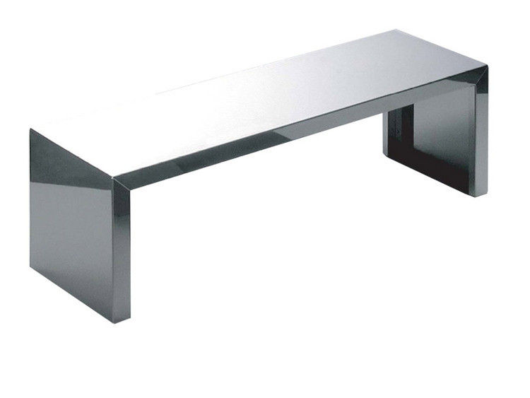 table basse small inox miroir l 106 x h 35 cm zeus. Black Bedroom Furniture Sets. Home Design Ideas