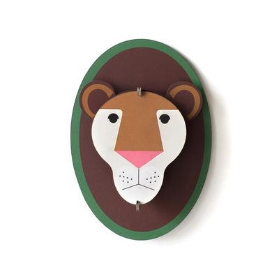 Déco - Pour les enfants - Décoration murale Lion / Carton - L 10 x H 15 cm - studio ROOF - Lion - Carton récyclé