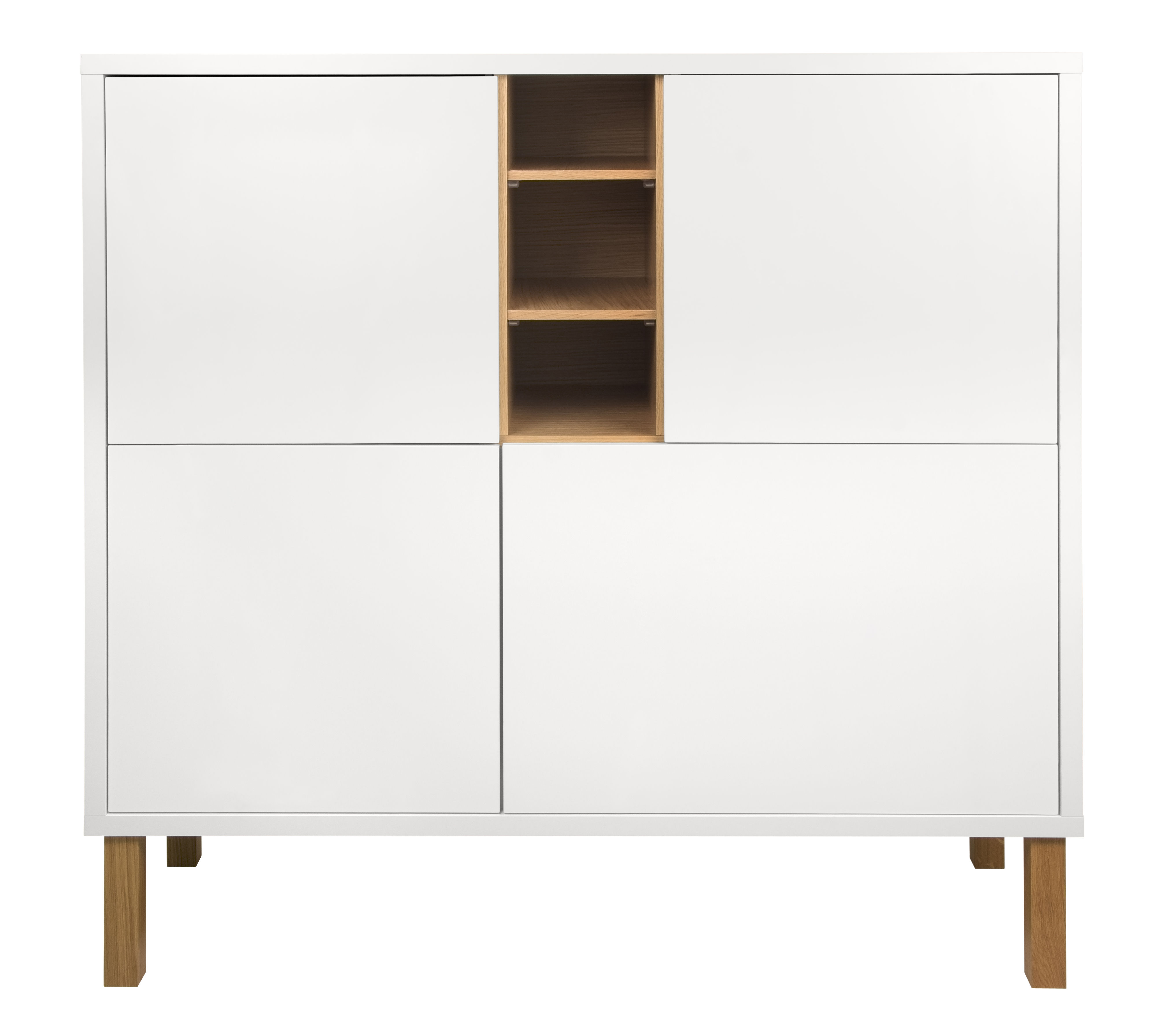 buffet cove haut l 128 x h 127 cm blanc ch ne pop up home. Black Bedroom Furniture Sets. Home Design Ideas