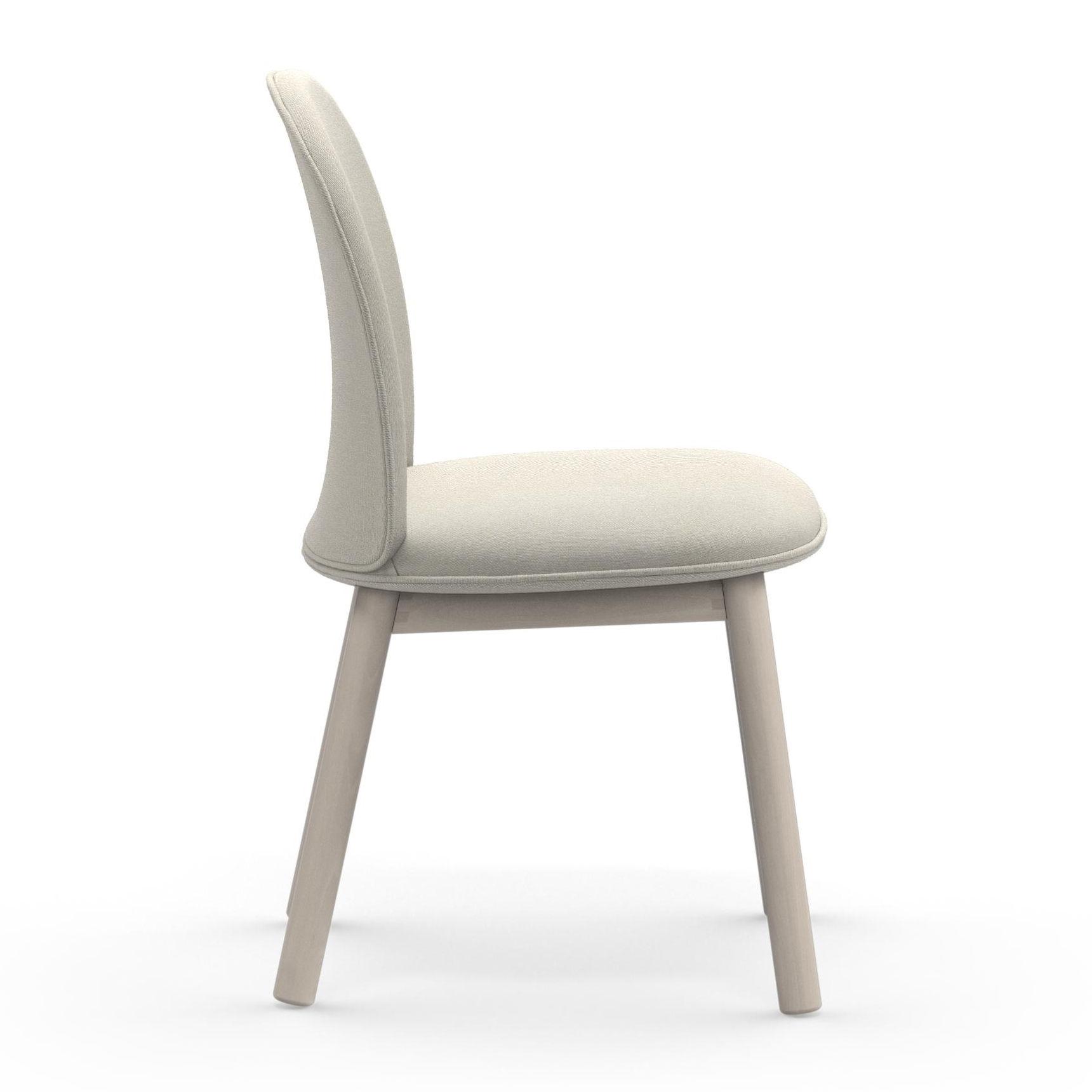 ace gepolsterter stuhl stoff holz beigefarbener stoff by normann copenhagen made in design. Black Bedroom Furniture Sets. Home Design Ideas