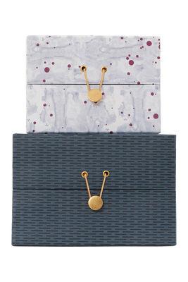 mixed handgefertigt 2er set house doctor schachtel. Black Bedroom Furniture Sets. Home Design Ideas