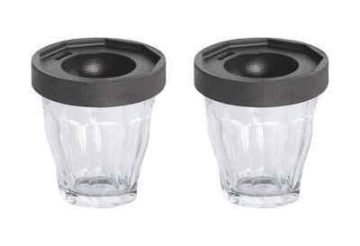 Coquetier Cot-Cot / Set de 2 - Verres Duralex - Designerbox transparent,gris anthracite en verre