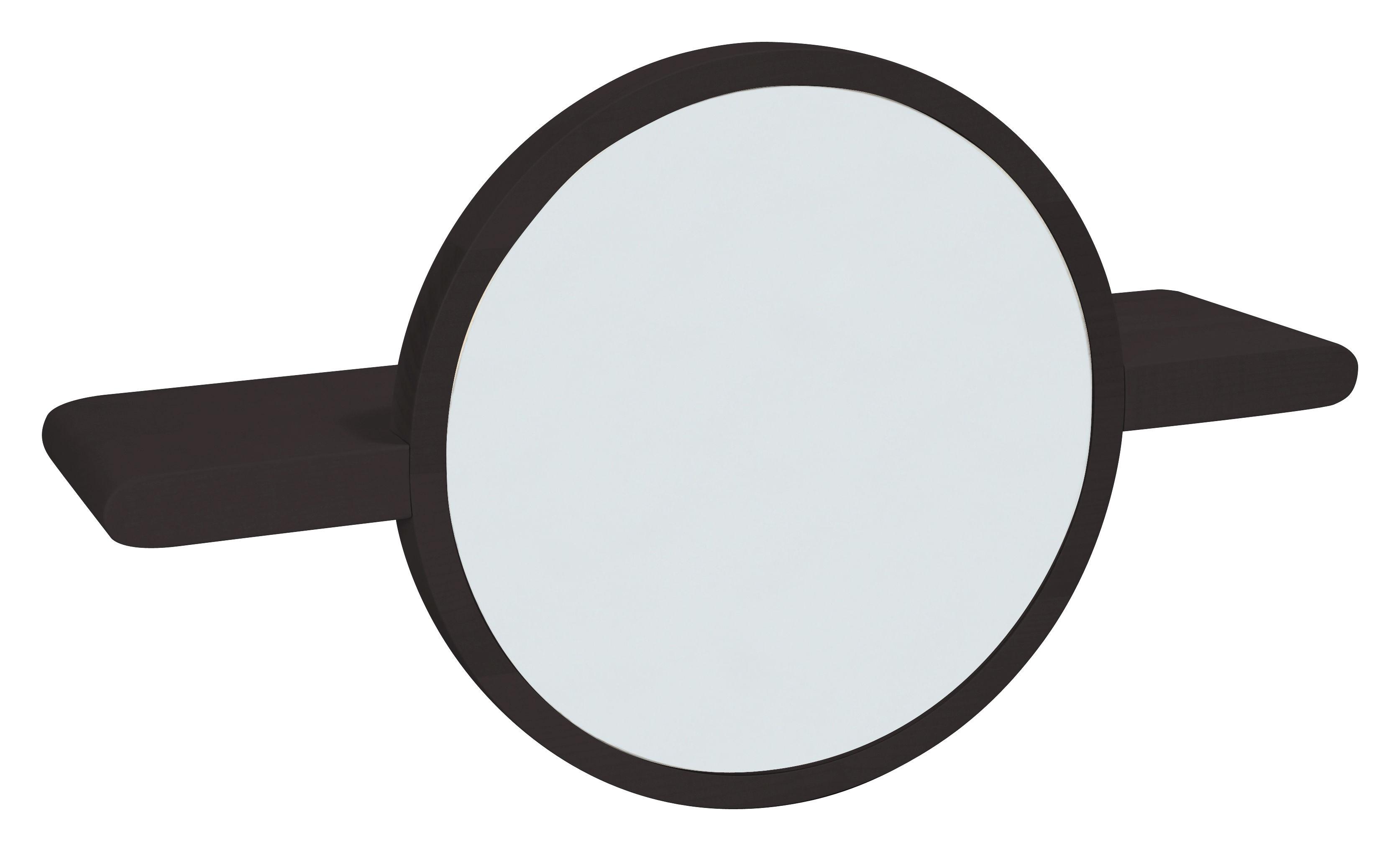 etag re mirette miroir rond l 60 cm brun made in. Black Bedroom Furniture Sets. Home Design Ideas