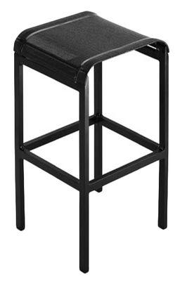 Tabouret de bar Tandem / H 80 cm - Toile - EGO Paris noir en métal