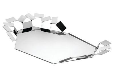 Plateau La Stanza dello Scirocco / 60 x 35 cm - Alessi acier brillant en métal