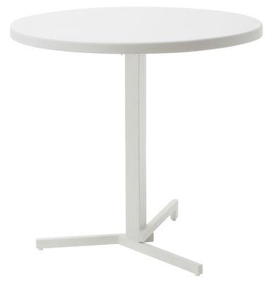 Jardin - Tables de jardin - Table pliante Mia / Ø 80 cm - Emu - Blanc - Acier, Métal