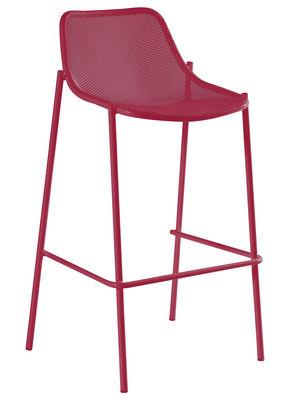 Foto Sedia da bar Round di Emu - Rosso - Metallo