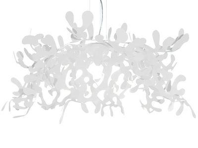 Foto Sospensione Superleaves - Ø 105 cm di Lumen Center Italia - Bianco - Metallo