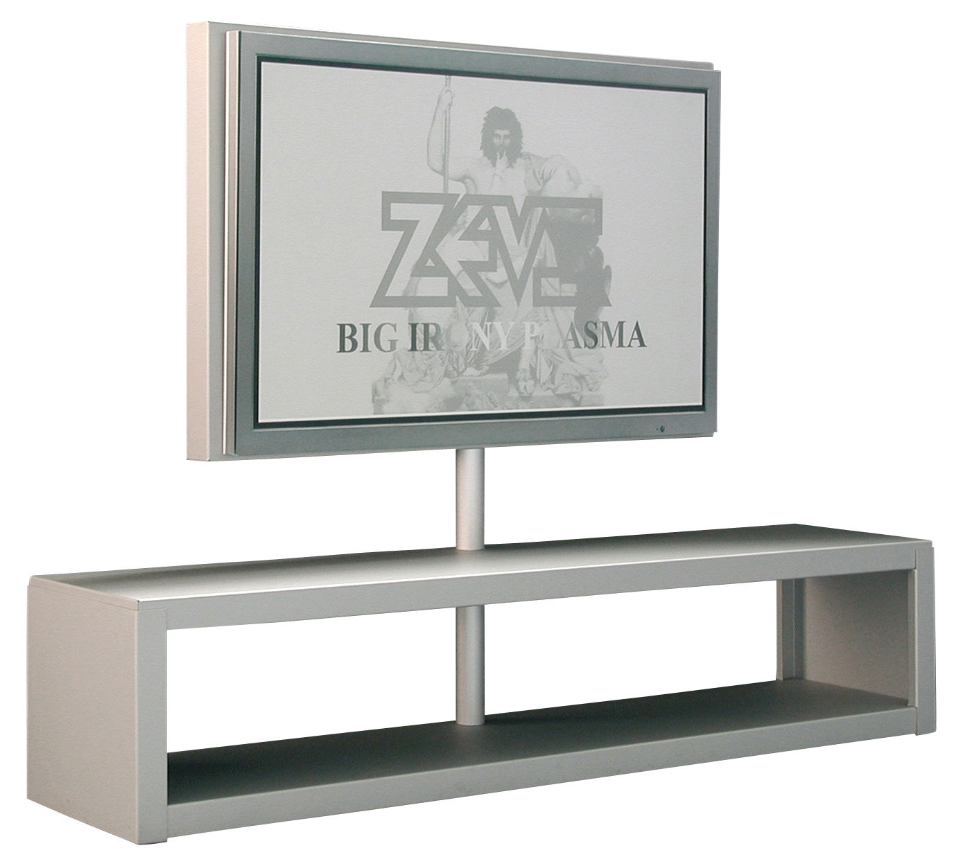 scopri mobile tv big al plasma console supporto per schermo piatto alluminio anodizzato di. Black Bedroom Furniture Sets. Home Design Ideas