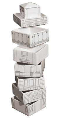 Arts de la table - Saladiers, coupes et bols - Set vaisselle Palace Torrione / 6 bols + 1 ramequin empilables - Seletti - Blanc - Torrione - Porcelaine